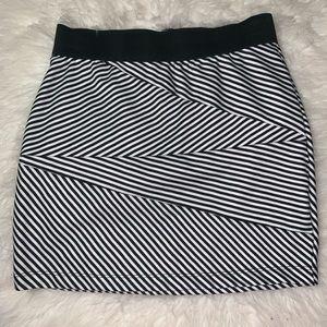 Striped forever 21 skirt